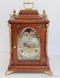 Antiguo reloj Sobremesa, JOHN SMITH LONDON, tipo Bracket con el calendario lunar, ref 09 - Foto 2