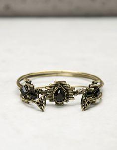 Bershka Turkey - Black stones bracelets