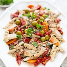 Ina Paarman | Mediterranean Chicken with Sun-dried Tomatoes and Olives Spicy Chicken Wrap, Chicken With Olives, Chicken Spices, Baked Chicken, Chicken Recipes, Chicken Salad, Grilled Peppers, Traditional Taste, Poached Chicken