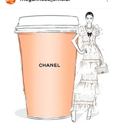 I'll take a Giant CHANEL coffee with a side of tweed please! Megan Hess Illustration, Illustration Girl, Kerrie Hess, Coffee Today, Monday Coffee, Natural Hair Art, Chanel Perfume, Chanel Art, Im So Fancy
