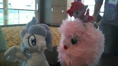 Frigid playing with her new friends ShadesOfEverfree and Fluffle Puff!