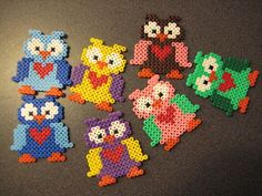 sandylandya.Colorful owls hama beads by rairan  - hama.dk