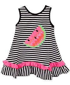 Rare Editions Baby Girls' Striped Watermelon Dress