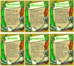 Exotische Früchte und Gemüse