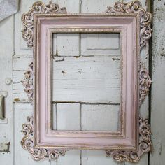 Ornate wood carved frame hand painted soft by AnitaSperoDesign