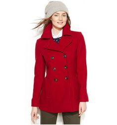 Pin for Later: Outerwear The Complete Glossary of Coats, Jackets, and More Peacoat Peacoat Outfit, Black Pea Coats, Pea Coats Women, Types Of Jackets, Double Breasted Coat, Tommy Hilfiger, My Style, Fashion 2015, Fall Fashion