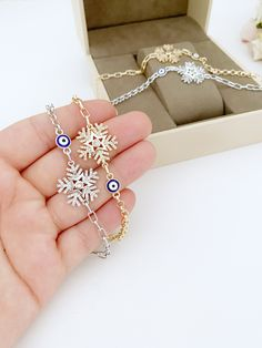 Evil Eye Ring, Evil Eye Bracelet, Arm Candy Bracelets, Chain Bracelets, Greek Evil Eye, Gold And Silver Bracelets, Evil Eye Jewelry, Plastic Jewelry, Evil Eye Charm