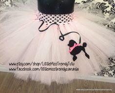 Pink Poodle Tutu Skirt Girls Poodle Tutu by LittleMissTrendyTutu