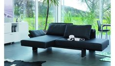 "SCENE Sofa from Franz Fertig     Multifunctional sofa with turnable seats for relax function and as bed.    Dimensions: width: 272cm/107"", depth: 96/117cm/38/46"", height: 73/96cm/29/38"", seat height: 43cm/17"".    Sleeping area as single bed: 87 x 197 or 272cm  34 x 78"" or 107"".    Sleeping area as double bed: 174 x 197cm  69 x 78"".    See video here:  http://www.die-collection.de/de/38/franz-fertig/sofas/scene.html"