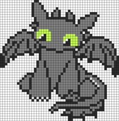 Cutie How To Train Your Dragon Toothless bead pattern:
