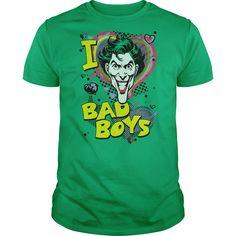 DC I Heart Bad Boys 2 T-Shirts, Hoodies. CHECK PRICE ==► https://www.sunfrog.com/Geek-Tech/DC-I-Heart-Bad-Boys-2.html?id=41382