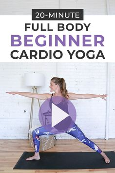 Jan 2020 - This full body, Beginner HIIT Cardio Yoga Workout combines the fat-burning benefits of HIIT training with the toning, sculpting, and stretching benefits of power yoga. A bodyweight workout you can do anywhere! Cardio Yoga, Pilates Abs, Pilates Workout, Power Yoga Workout, Cardio Workout At Home, Strength Workout, Pilates Reformer, At Home Workouts, Cardio Hiit