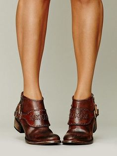 Love these! Love the color and menswear vibe and shoe/bootie combo