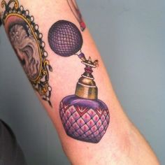 Best Body - Tattoo's - small tattoo | Tumblr. I love the idea of a perfume bottle, so unique!