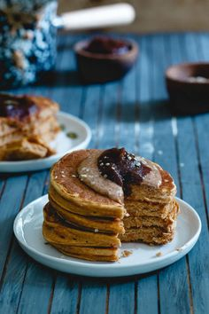 These pumpkin protein pancakes are a simple, fall recipe for pumpkin pancakes packed with protein (19 grams per serving!) to help keep you full longer. A healthy and delicious start to your day!