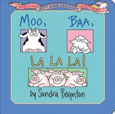 A beloved Sandra Boynton classic showcases redrawn art and a larger size in this Special Anniversary Edition. By Sandra Boynton Illustrated by Sandra Boynton Sandra Boynton, Animal Books, 30th Anniversary, Bedtime Stories, Childrens Books, Good Books, The Book, Board Book, Babies
