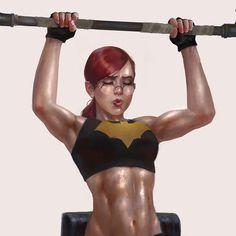 Barbara Gordon Inspired by Norman Rockwell and Adam Hughes. Nightwing And Batgirl, Batgirl And Robin, Batwoman, Batman Robin, Robin Dc, Comic Movies, Comic Book Characters, Comic Character, Comic Books Art