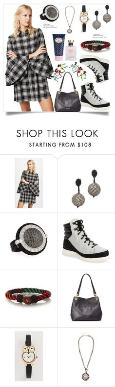 """""""Double Trumpet Sleeve Shirt Dress in Black"""" by camry-brynn ❤ liked on Polyvore featuring Oscar de la Renta, The North Face, Aurélie Bidermann, Kate Spade, Ela Rae and Brooks Brothers"""