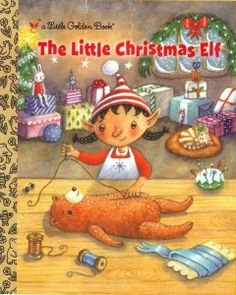 The Little Christmas Elf (Little Golden Book) by Nikki Shannon Smith. A sweet tale of tiny elf Nina sticking with her Christmas job until it's done. Aside from lovely Christmas spirit, a gentle lesson on focus and caring about a job done well. Christmas Stories For Kids, Childrens Christmas Books, A Christmas Story, Little Christmas, Christmas Elf, Christmas Themes, Childrens Books, Vintage Christmas, Christmas Crafts