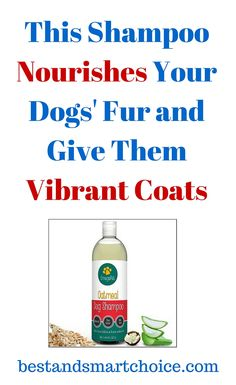 This shampoo is completely lacking in preservatives or harmful chemicals, guaranteeing that pets should be able to enjoy a nice...continue reading by clicking here --> http://bestandsmartchoice.com/2015/09/this-shampoo-nourishes-your-dogs-fur-and-give-them-vibrant-coats/