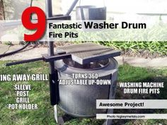 9 Fantastic Washer Drum Fire Pits