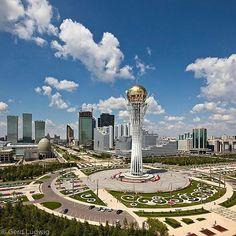 Astana, the new capital of Kazakhstan. Photo by @GerdLudwig. The Baiterek monument and observation tower is the symbol of Astana, the new capital of Kazakhstan.