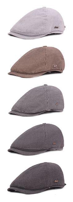 Plover Lattice Cotton Beret Cap for Men Mens Newsboy Hat 01d0ca96370