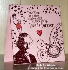 STAMPINBACK: Stampinback sheet 145, Einstein, dame en Valentijn