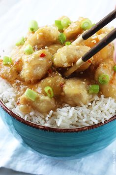 Sweet Chinese honey and garlic chicken - an easy family favorite recipe that's ready in 30 minutes and better than takeout!