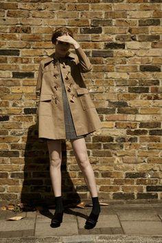 Short dress, short coat. Yes.