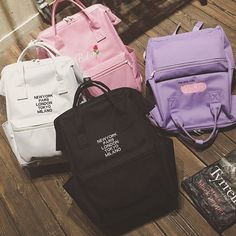 Harajuku Fashion Canvas Backpack