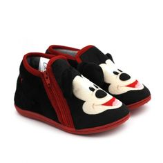 Sleepers Zapatillas botines de estar por casa con dise/ño de f/útbol para ni/ños