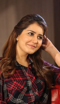 Rashi Khanna Cute Stills In Red Shirt - Raashi Khanna