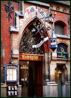 Ratskeller - a very traditional Bavarian beer cellar and restaurant, Munich, Germany