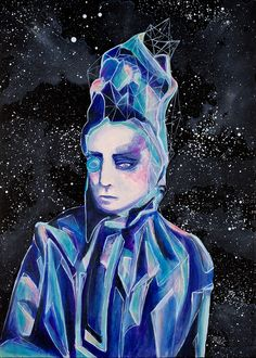 Crystal Empress www.facebook.com/domenicotalarico.art #art #artist #artwork #workofart #paint #painter #painting #couple #acrylic #canvas #classy #illustration #illustrate #illustrator #graphic #graphicart #fashion #fashionart #fashionillustration #creepy #artnouveau #jugendstil #belle #belleepoque #artdeco #1900 #glamour #diamond #blingbling #formidable #dress #welldressed #space #galaxy #violet #teal #mint #contemporary #hipster #hipsterart #steampunk #hat #lady #collage #wings