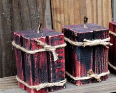 Set of 3 Rustic Faux Candles Cottage Style by TheSavvyShopper1, $25.00