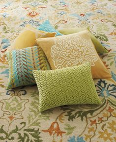 Coordinate room colors with these beautiful accent pillows from Company C!