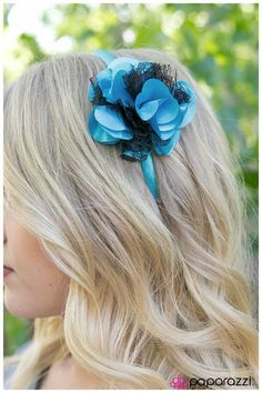 hair accessories #hair #accessories  Make them say WOW! with this stunning blue and black head band.