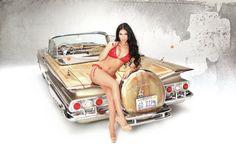Looks like wood grain Rat Rod Girls, Car Girls, Chevrolet Impala, Sexy Cars, Hot Cars, Lowrider Bike, Hot Rides, Drag Cars, Amazing Cars