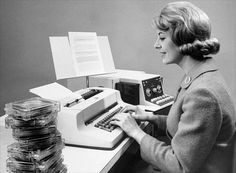 IBM Selectric MT/ST with tapes- 2 years I operated one of these!