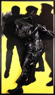 """Rafael Canogar """"La policía en acción"""" (1969)"""