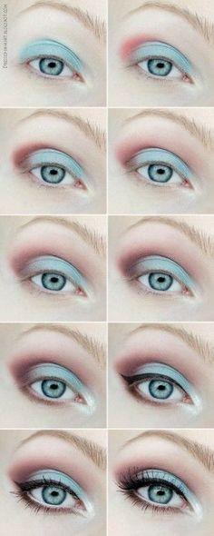 Spring Laguna. | Idea Gallery | Makeup Geek --> beautiful teal/mauve look.