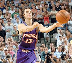Steve Nash - I fell in love with Nash when he was playing for the Mavs but I will adore him no matter who he plays for!! He is dominate, aggressive and a born leader! Love him! (miss him on the mavs though BOO!)