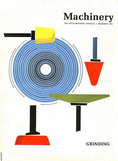Machinery Magazine Covers. From A Land Where A Metal Workers Monthly Magazine Was Beautifully Designed