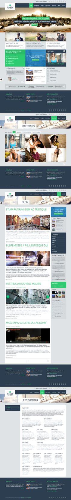 Muffingroup Tisson theme #flat #design #website #wordpress