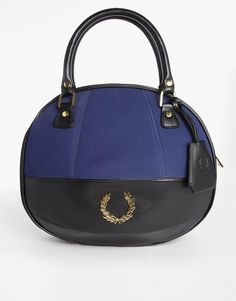 Amy Winehouse | Fred Perry Amy Winehouse Bowling Bag with Panelling Detail at ASOS