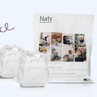 Get a free pack of Naty eco nappies for your baby & 3 friends.