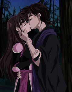 Miroku and Sango - inuyasha Inuyasha Anime, Kagome And Inuyasha, Manga Anime, Anime Art, Corpse Party, Sango Y Miroku, Kagome Higurashi, Otaku, Inu Yasha