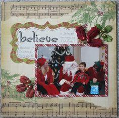 Live-Dream-Create Creations Preschool, Santa, Layout, Scrapbook, Live, Create, Projects, Christmas, Cards