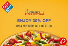Domino's Pizza offers 30% off on 350 for 2.30 to 6.30pm. Valid till 9th December.  http://www.paisebachaoindia.com/get-30-off-on-350-for-2-30-to-6-30pm-dominos-pizza/